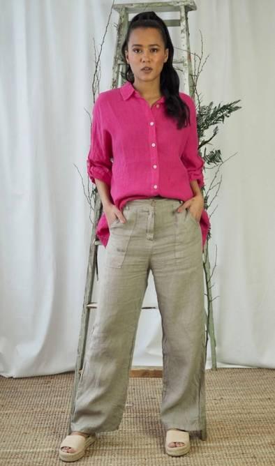 Bilde av Nectar Clothing - Milano Linen Trousers - Latte