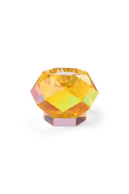 Bilde av glam yellow krystal lysestake