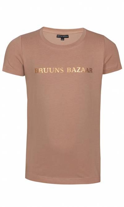 Bilde av Beige med gull t-skjorte