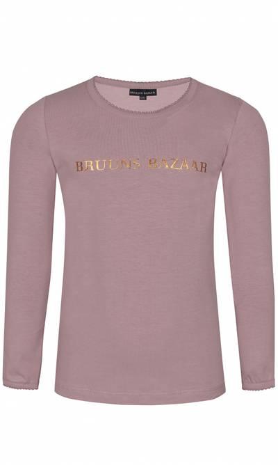 Bilde av Støvet rosa genser med gullskrift