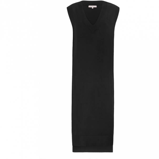 Bilde av SRMARLA V-NECK SL KNIT VEST DRESS black