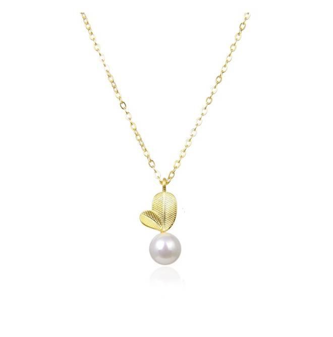 Bilde av Magdalene white pearl smykke gull